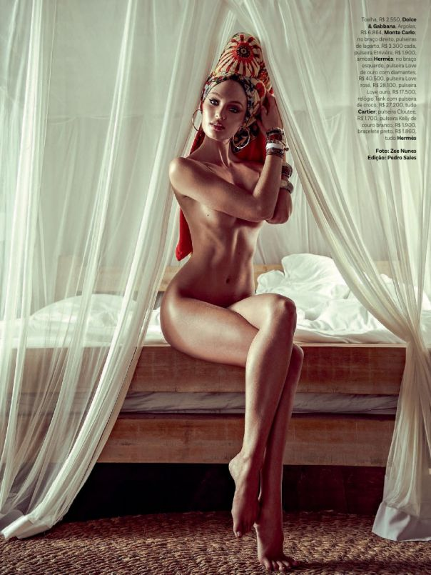 """Cocktail chic"" by Paolina : ""Candice Swanepoel"" for Vogue Brazil January 2014 !!"