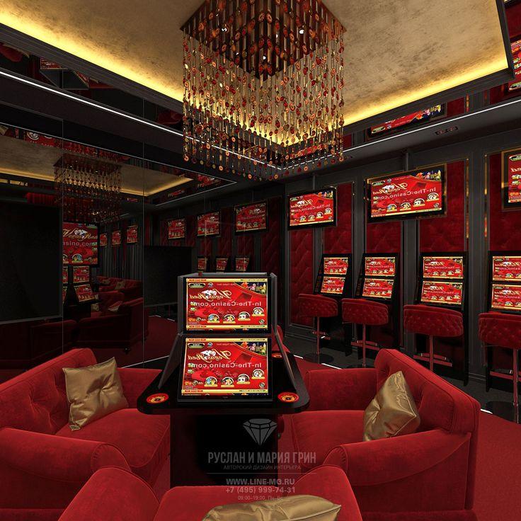 Дизайн интерьера игрового зала клуба спортивных и лотерейных ставок.