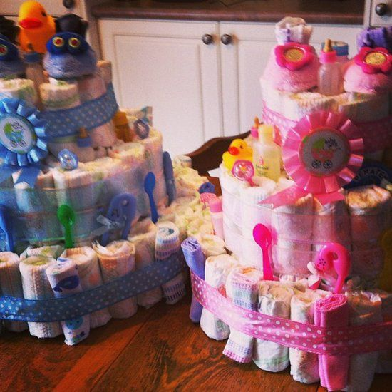 Think Outside the Cake This baby shower got clever turning baby essentials into a cake (that also became cute decor and a great gift!). Source: Instagram User shayleeallester