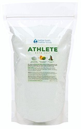Athlete Bath Salt 3 Pounds - Epsom Salt Bath Soak With Pine & Eucalyptus Essential Oils Plus Vitamin C - 100% All Natural No Perfumes No Dyes - Post Workout Soak For Tired Sore Muscles