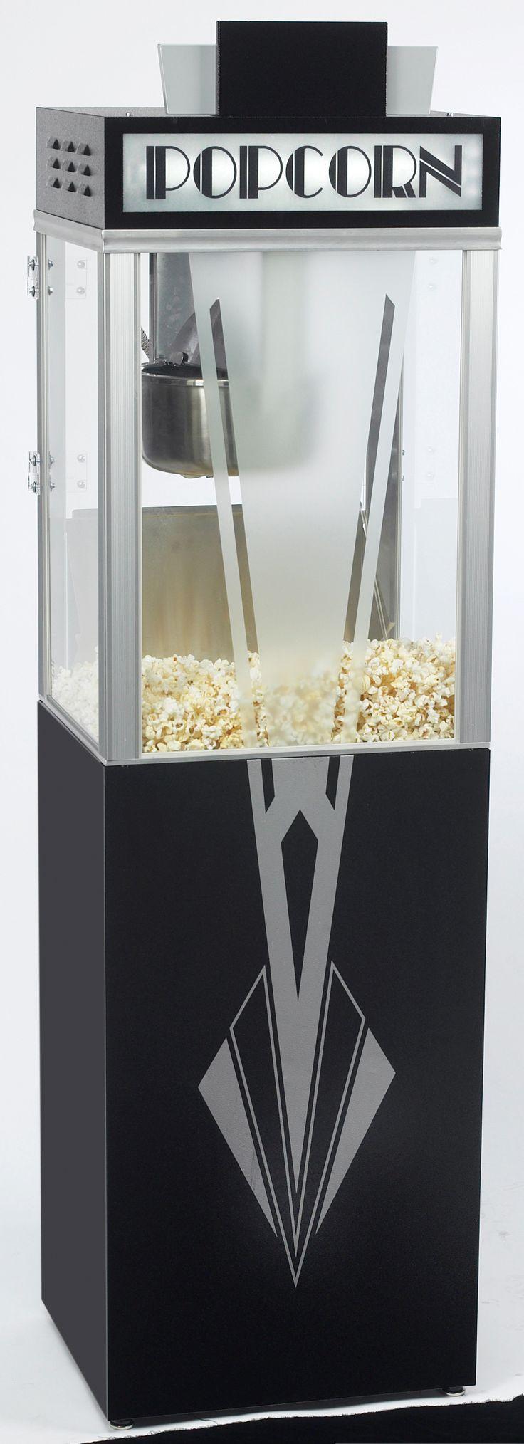 Art Deco Popcornmaskin med underrede - Scandimatic AB - Sockervadd Maskin | Popcornmaskin | Sockerspinnare | Korvkokare