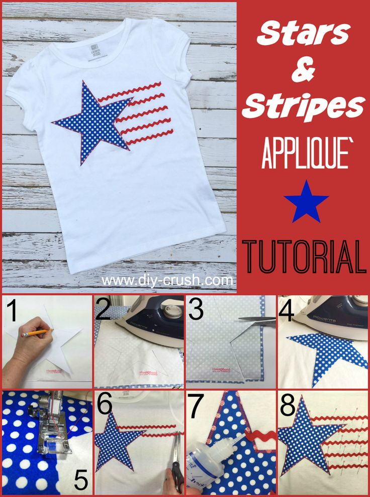 Stars and Stripes Applique` Tutorial | DIY Crush