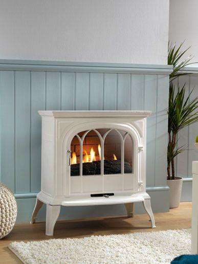 Eko 6010-WA Freestanding Flueless Gas Stove - White ( Arch Door )   United Kingdom   Gumtree