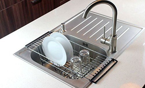 Amazon Lightning Deal 90% claimed: Over-The-Sink Kitchen Dish Drainer Rack Durable Chrome-plated Steel (Black) #LavaHot http://www.lavahotdeals.com/us/cheap/amazon-lightning-deal-90-claimed-sink-kitchen-dish/131959