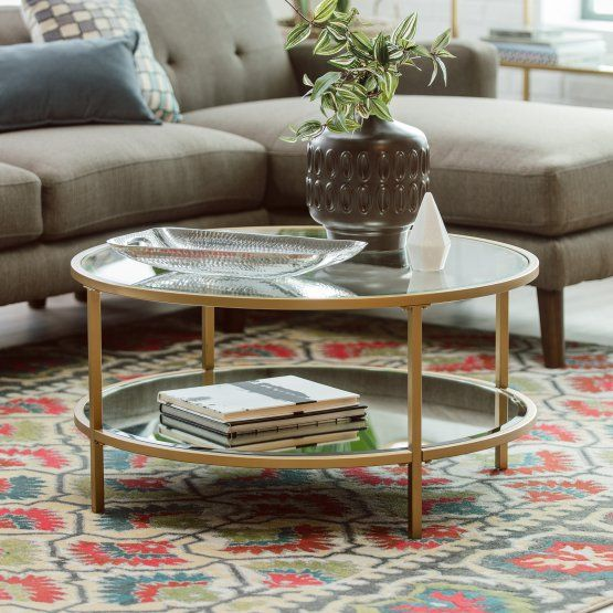 Belham Living Lamont Round Coffee Table - Gold