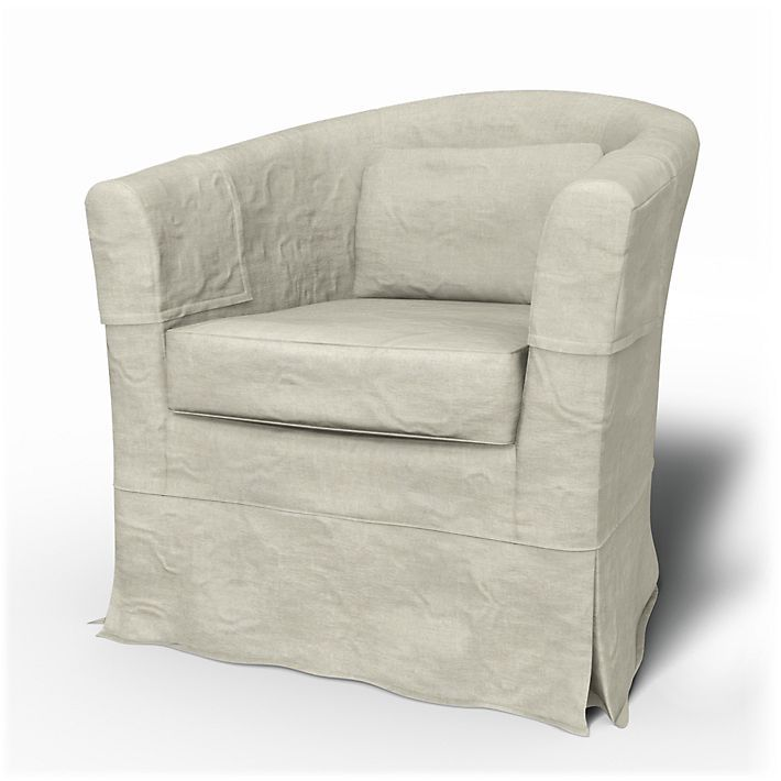 Tullsta, Armchair Covers, Armchair, Loose Fit Country using the fabric Brera Lino Natural
