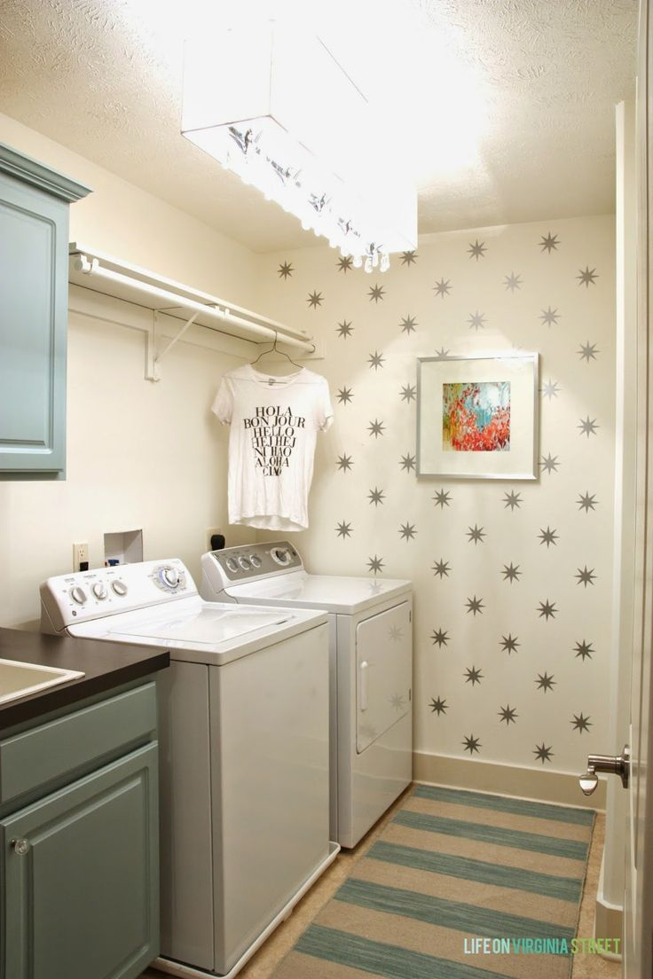 Gorgeous Laundry Room Makeover! So many great DIY projects from Life On Virginia Street.