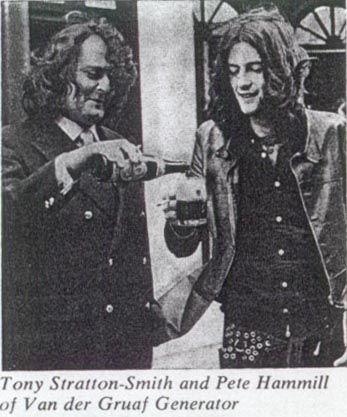 Tony Stratton-Smith and Peter Hammill of Van Der Graaf Generator.