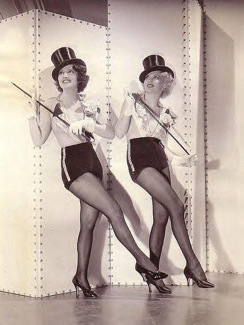Chorus Girls in top hats