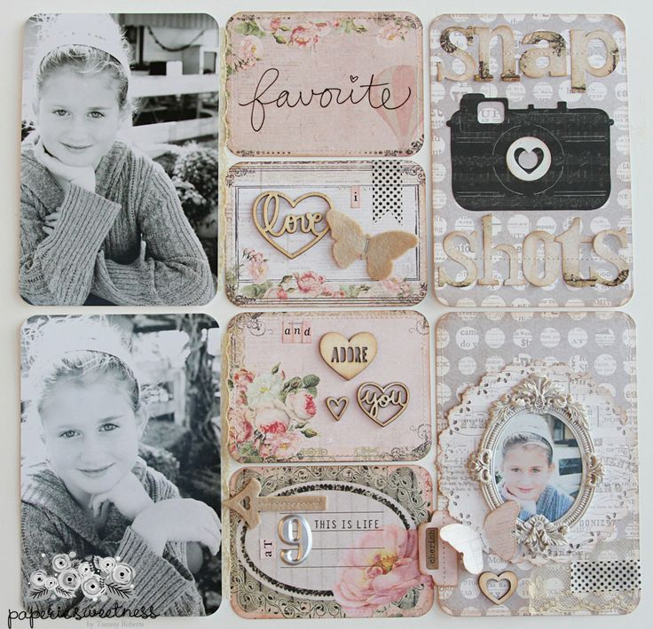 Sizzix Die Cutting Inspiration and Tips: Project Life Page by Tammy Roberts featuring dies by @Tim Harbour Holtz and Sizzix Thinlits.