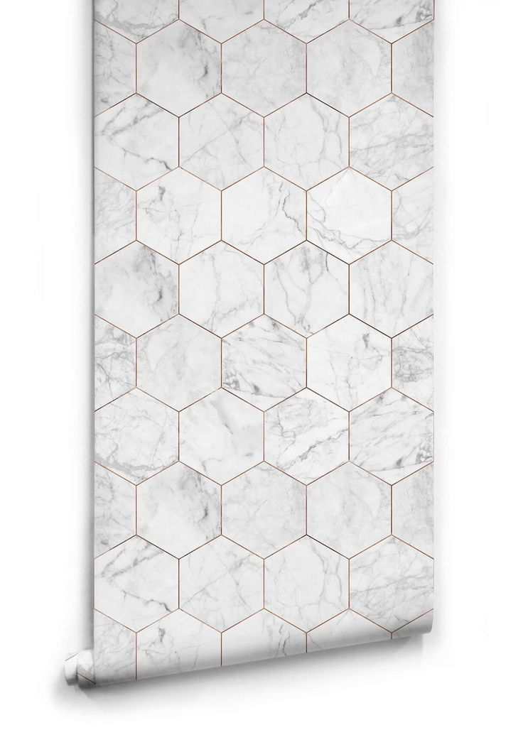 Marble and Copper Tiles Wallpaper from the Kemra Collection design by Milton & King