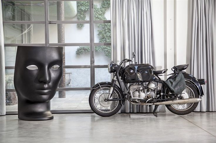 I'd take the motorcycle and the weird face scupltureVintage Bmw, Home, Modern Art, Fabio Novembre, Vintage Motorwerk, Vintage Wardrobe, Interiors Artifacts, Artists Express, Crazy Bikes