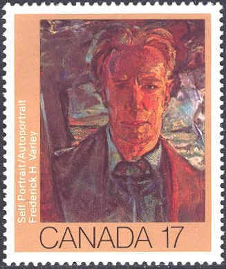 Canada 1981. Group of Seven. Realism/Naturalism. Fredrick H. Varley. Self-portrait.