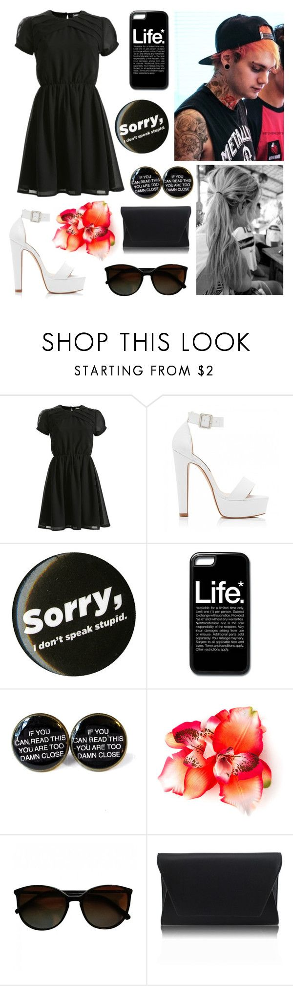 """""""Michael is still the bae"""" by celestem-lucci ❤ liked on Polyvore featuring Ayarisa, Forever New, Chanel and Retrò"""