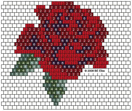 seed bead pattern rose | ... rose purse pattern designed by barbara elbe inspired earring pattern
