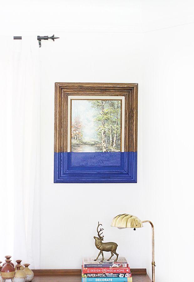 Dipped Paintings: tendência criada por Oliver Jeffers traz quadros mergulhados até a metade em tinta colorida, resultando em uma estética original.