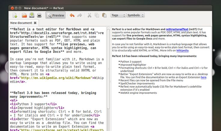 ReText 3.0 Released (Text Editor For Markdown And reStructuredText) ~ Web Upd8: Ubuntu / Linux blog