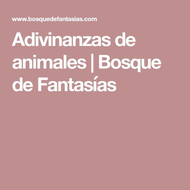 Adivinanzas de animales | Bosque de Fantasías