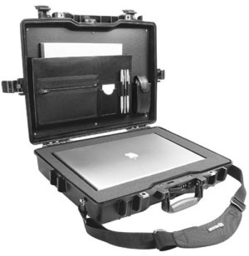 Hardback Laptop Pelican Case 1495cc2 provides great protection for a variety of laptops, due to its hardback exterior. The case is designed using strong, durable polymers which offers impressive impact and shock resistance properties.