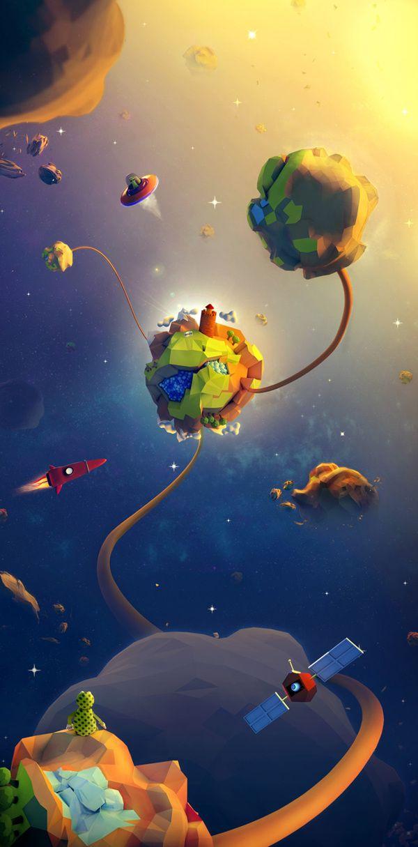et pourquoi pas différentes planètes ? belles ambiances lumineuses