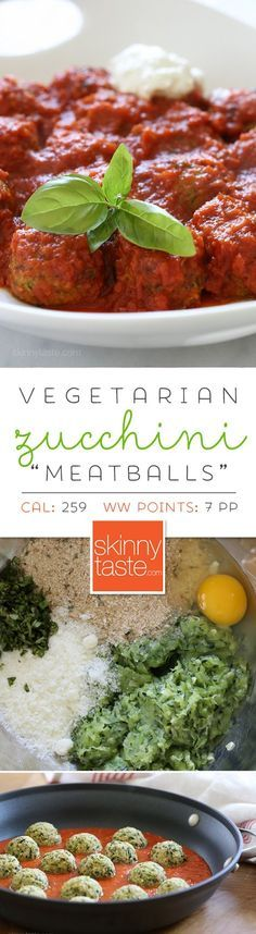 """Zucchini """"Meatballs"""" – delicious, EASY vegetarian meatballs and they're AWESOME!"""