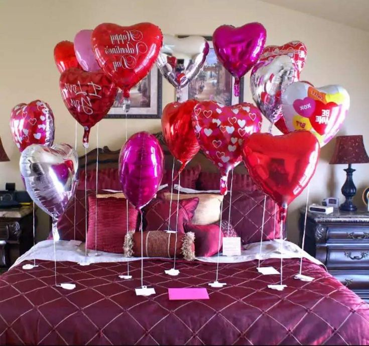 Perfect 55 Adorable Valentineu0027s Day Balloon Decorations For Your Loved One