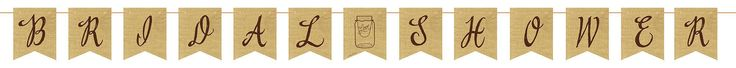 (6/case) Rustic Wedding Burlap Pennant Banner With Twine, Bridal Shower