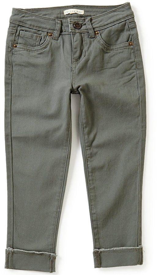 Copper Key Big Girls 7-16 Cuffed Skinny Capri Jeans