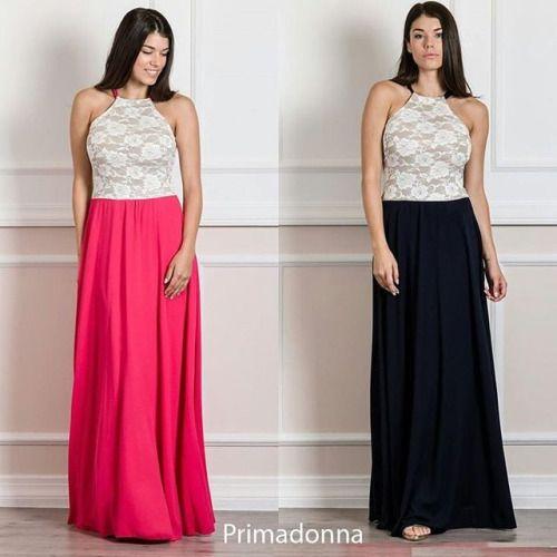 #Maxi_dress με δαντέλα στο μπούστο. Από την καλοκαιρινή συλλογή μας σε βραδινά φορέματα.