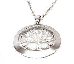 """Colier argint 925 rodiat, design italian cu medalion """"pomul vietii"""""""