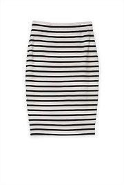Stripe Body Con Skirt