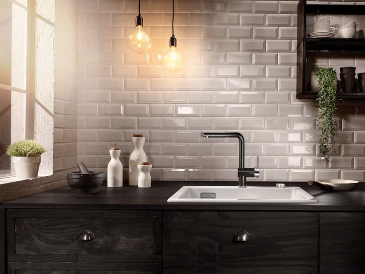 Blanco keukenkraan LINUS-S Black & White Editie