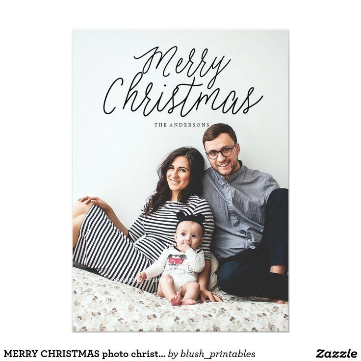 MERRY CHRISTMAS photo christmas greeting card