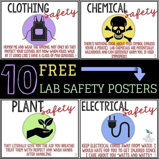 Grab your students attention with these FREE snarky LAB SAFETY POSTERS meant for secondary science classrooms. What's the point of being a secondary science teacher if you can't give students a taste of their own medicine, right? Click on the link in my b