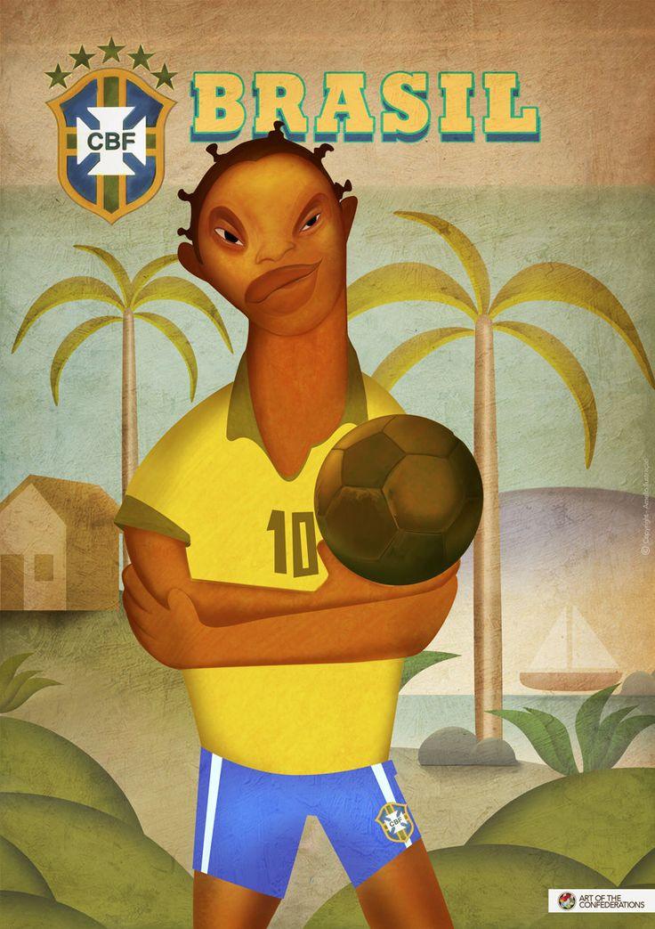 コンフェデ出場国それぞれの有名画家風アート集 : footballnet