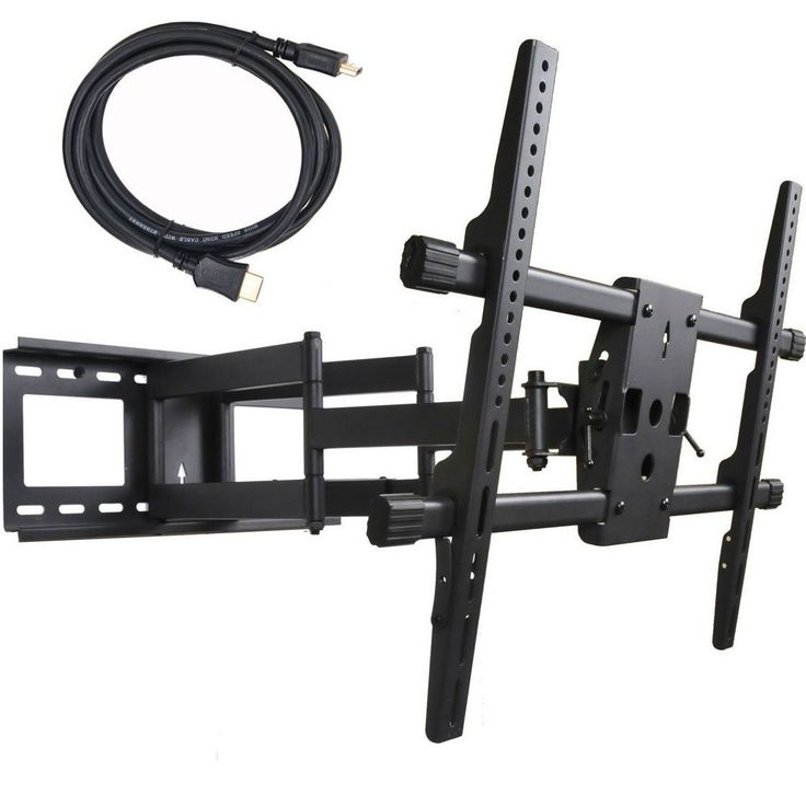 Videosecu Articulating Full Motion Tv Wall Mount For Led Lcd Plasma Tvs Up To 165 Lbs With Vesa Mm Dual Arm Pulls Out 25 Inch Leveling
