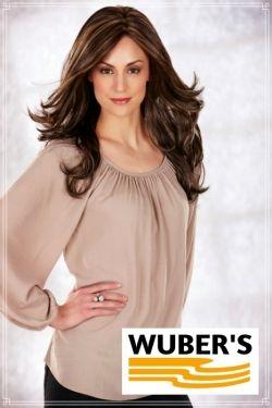 Parrucca Wuber's anche per chemioterapia capelli  in fibra parte alta lavorata a mano monofilamento modello Eva