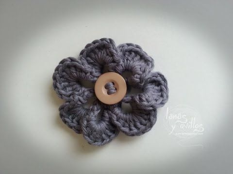 Tutorial Flor Crochet o Ganchillo Paso A Paso en Español - YouTube