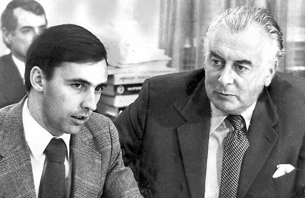 Paul Keating and Gough Whitlam in 1975