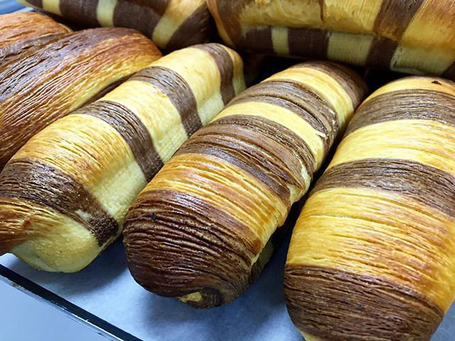 imagination by Peter Yuen: croissant dough,  brioche, hazelnut cream  #bakery #pastry #viennoiserie #peteryuen #vipmastersschool #vipmasters #moscow