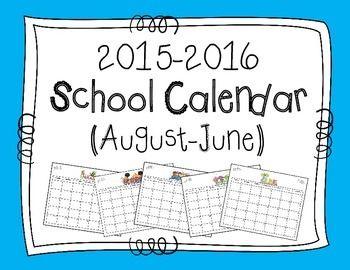 Free! School Calendar 2015-2016