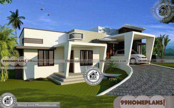 One Story Contemporary Homes Flat Roof Modern House Collections Flat Roof House Contemporary House House Plans With Photos