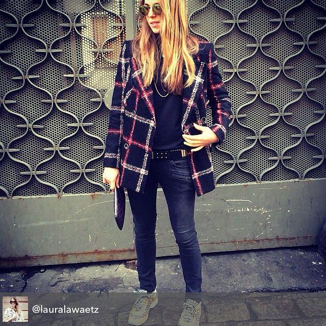The stunning Laura @lauralawaetz Besides wearing our Compromise Necklaceshe has the most inspiring profile. Love her street/classic mix @goldmind_dk  #Lauralawaertz #inspiration #style #fashion #lulubadulla #jewelry #jewellery #danishdesign #danish #contemporary #design #compromise #necklace