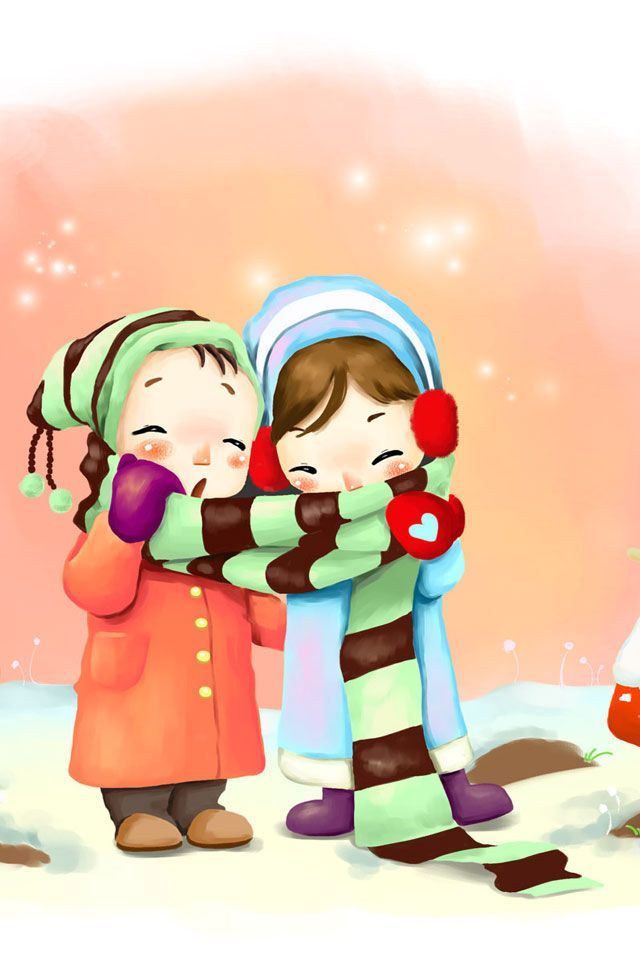 Cute Cartoon Couples Wallpapers Tiger Cute Animal Print Iphone Wallpapers Iphone