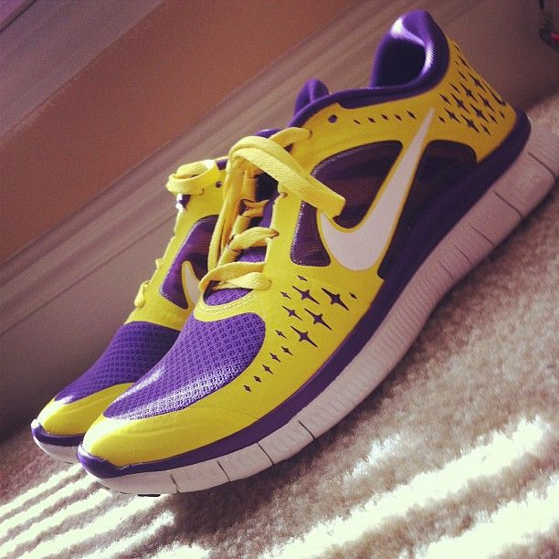 These Purple and Gold Sneakers are amazing!  Go Pirates! ECU Arrrgh
