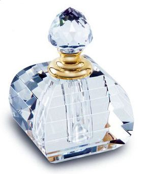 Baby Blue Cut Glass Perfume Bottle. Because my dream bathroom will have…