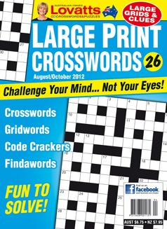 Large Print Crosswords - Challenge your mind - not your eyes! Large Print Crosswords feature special 'GridWords' grids with unique design