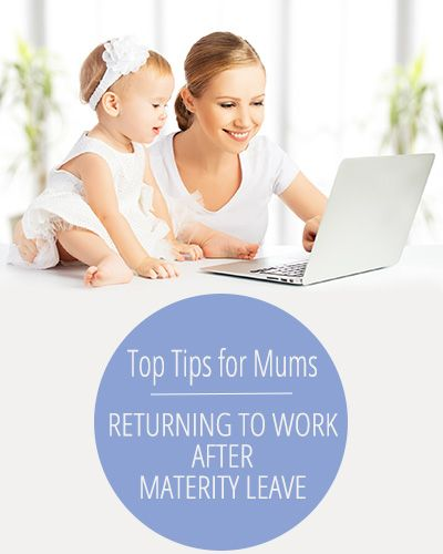 Returning to work after maternity leave - tips for mums. 7 easy things you can do to make the transition easier on you and your family - probably things you haven't even thought of.