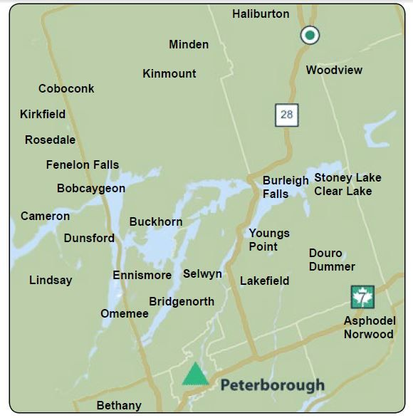 """NEWS! Effective March 14th - we are ADDING to our Canada Post Businesses by mail - Cottage Country Connection is growing again!! Millbrook, Ontario PLUS """"K0M"""" Postal Codes: Bobcaygeon Fenelon Falls Burnt River Cameron Coboconk Dunsford Eagle Lake Haliburton Kinmount Kirkfield Minden PLUS """"K0L"""" Postal Codes: Apsley Baileboro Bancroft Campbellford Curve Lake Harcourt Hastings Havelock Indian River Keene Lakehurst Lake St Peter Norwood Omemee Trent River Wilberforce HURRAY!!!!"""
