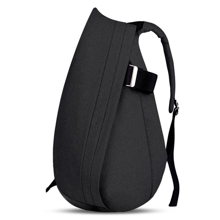 Cai 15'' Business Laptop Backpack Multifunctional Satchel Bag Double Compartments Rucksack School Hiking Travel Bag Commuting Bag for Men Women Water-resistant 5404 Ash Black